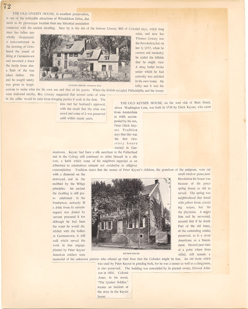 Castner Scrapbook v.38, Germantown 2, page 72