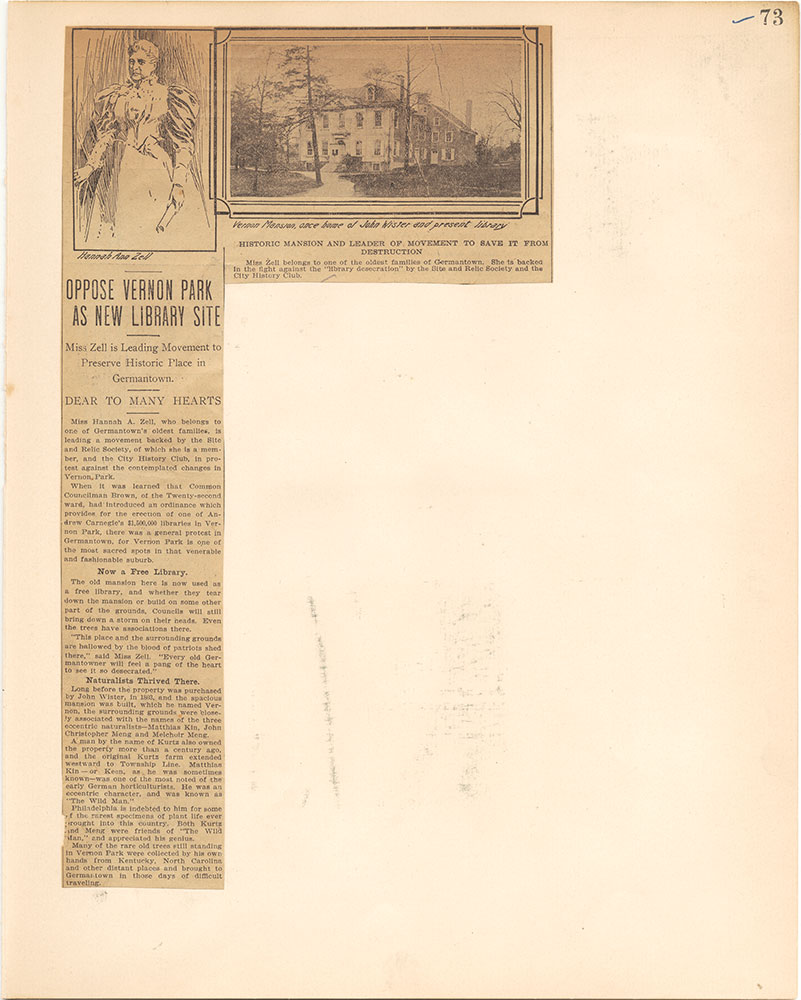 Castner Scrapbook v.38, Germantown 2, page 73