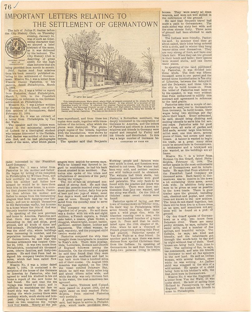 Castner Scrapbook v.38, Germantown 2, page 76
