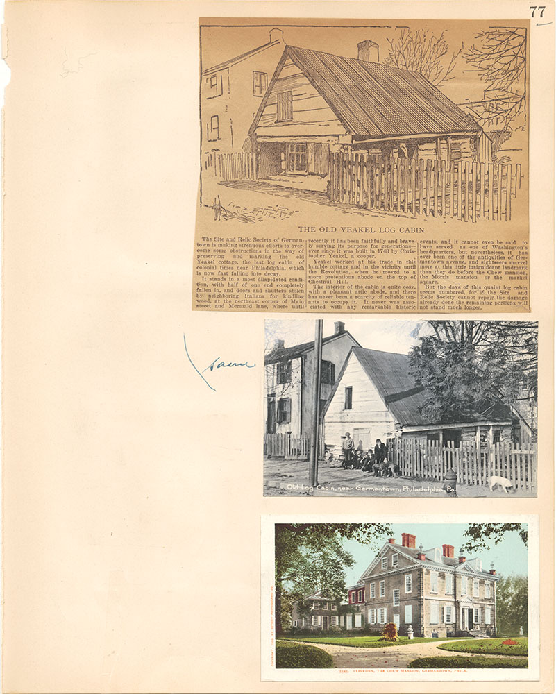 Castner Scrapbook v.38, Germantown 2, page 77