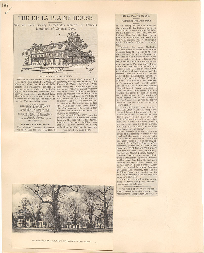 Castner Scrapbook v.38, Germantown 2, page 86