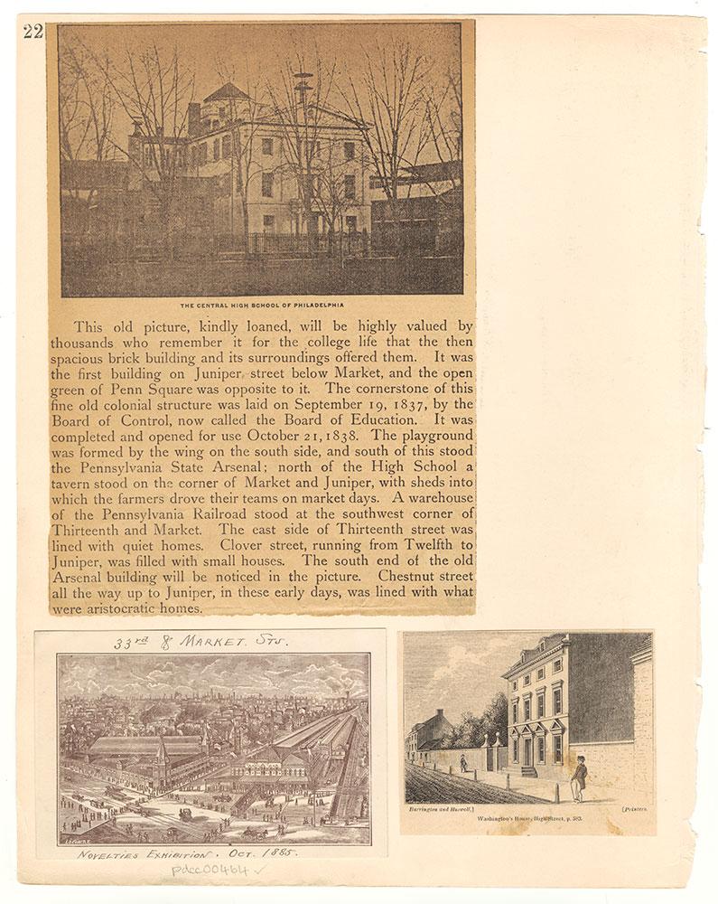 Castner Scrapbook v.6, Market Street, page 22