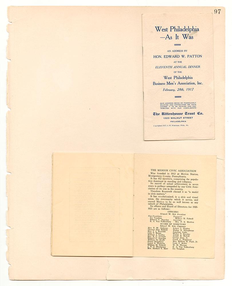 Castner Scrapbook v.7, Walks, Views, Maps, page 97