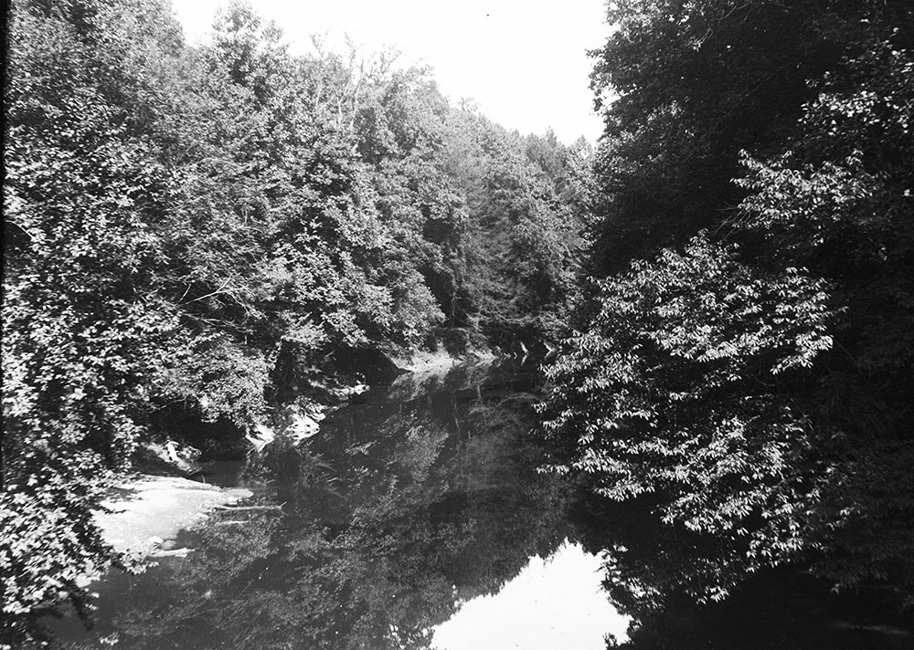Looking up Wissahickon Creek from the New Stone Bridge