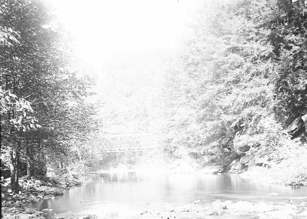 The Wissahickon Creek near Kitchen's Lane Bridge, Fairmount Park