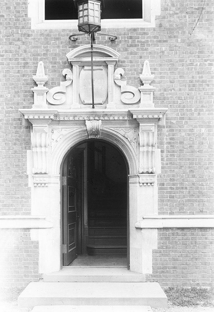University of Pennsylvania Dormatories- Wilcon D. Graig House, detail of door