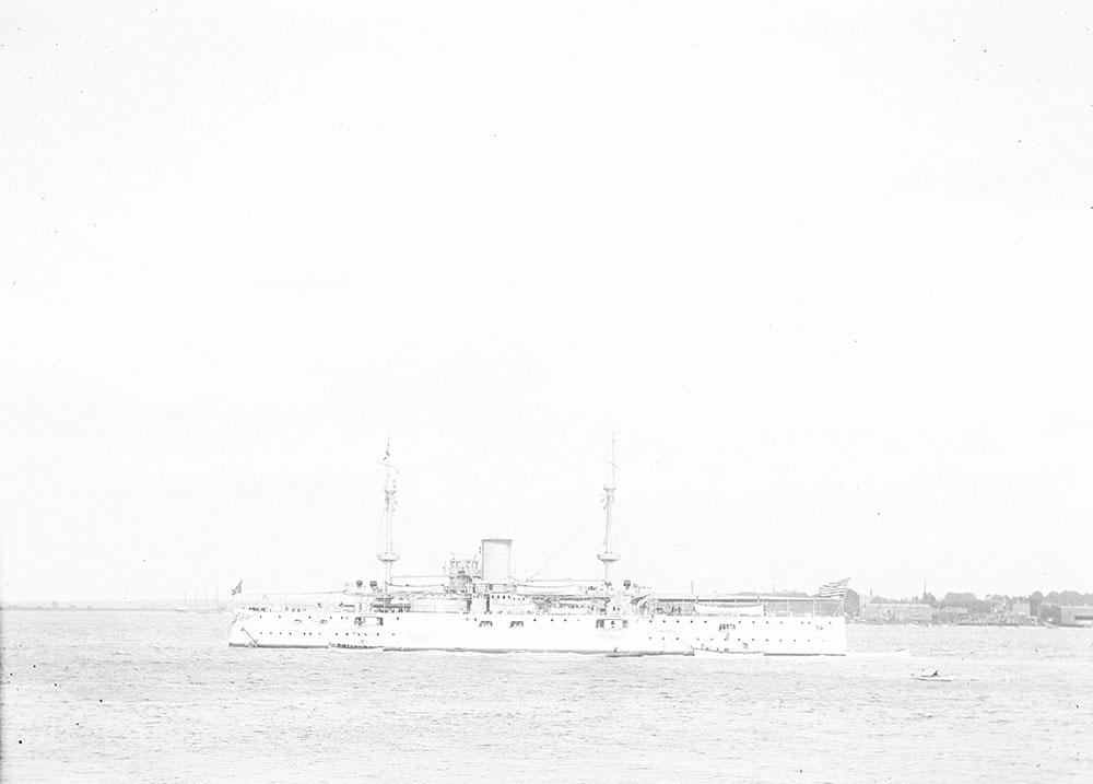 U.S.S. Texas, Delaware River