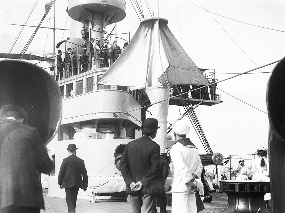 On board U.S.S. New York, Delaware River