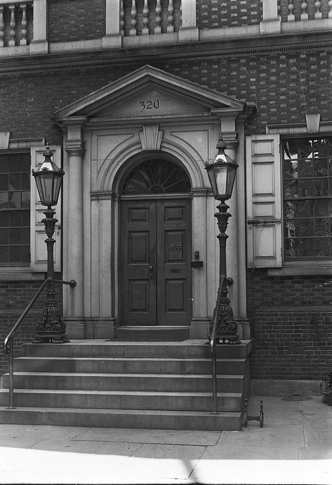 Carpenters' Hall, built 1770-75, detail of entrance
