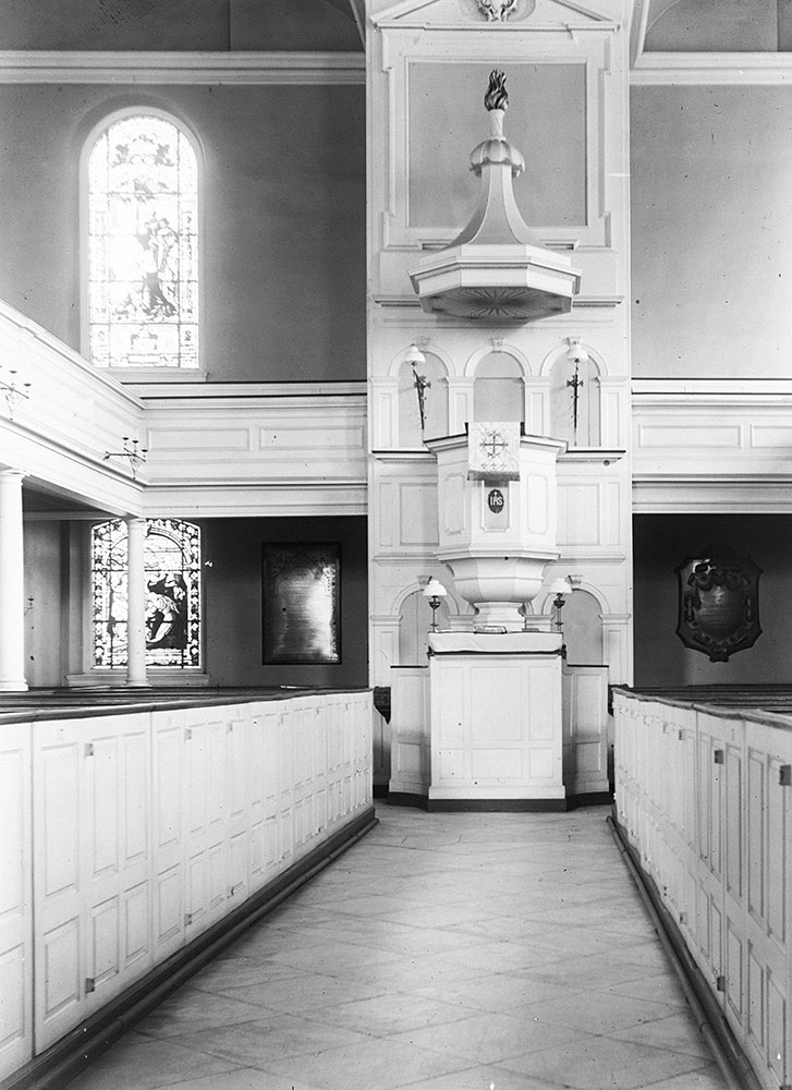 St. Peter's Church (1758-61), interior (the pulpit)