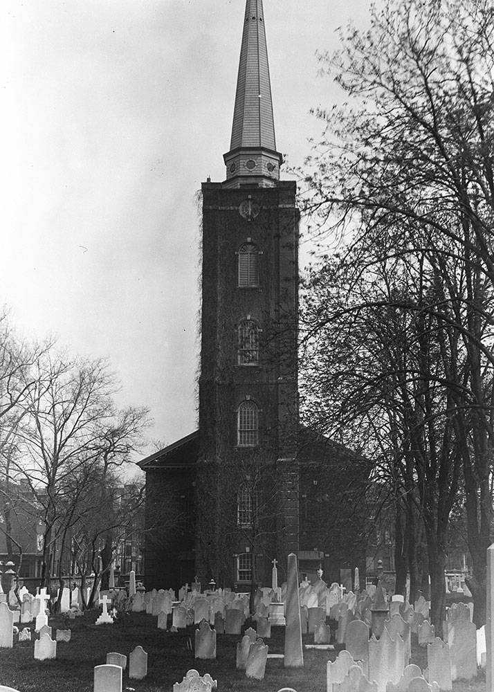 St. Peter's Church, built in 1758-61, tower by Wm. Strickland, Arch. in 1842