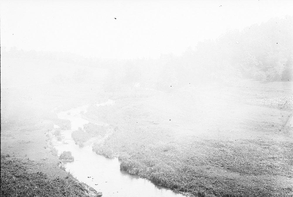 Across the fields to Mill Dam