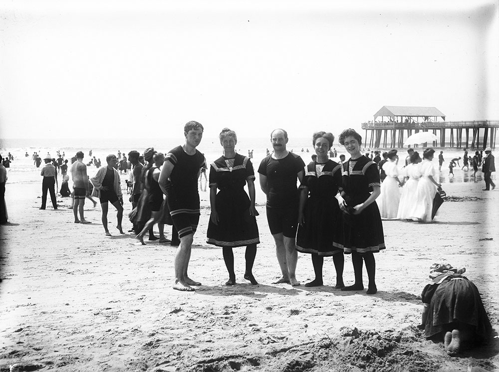 Henry Shinn, Sue and Ada Paxton, Sylvie Lynville and self on beach