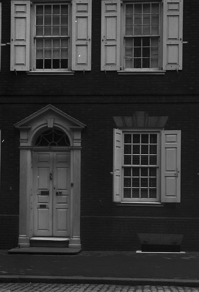 The Morris House, detail of door and windows