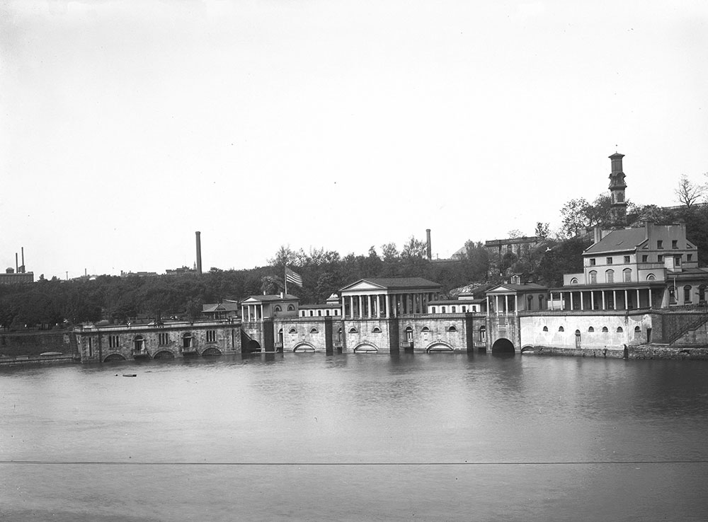 Fairmount Water Works from across the River