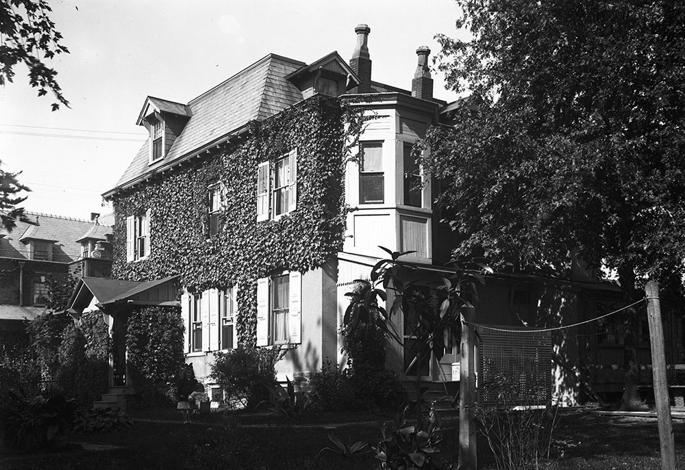 Residence of Virgil L. Johnson, from the rear