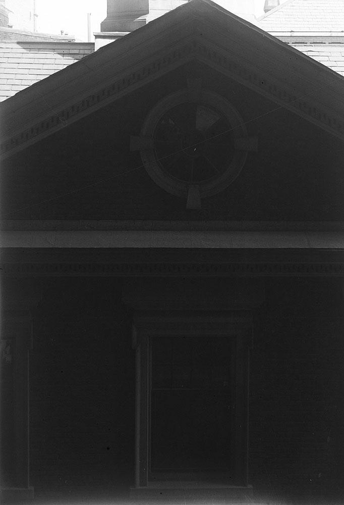 Carpenters Hall, Detail of Pediment