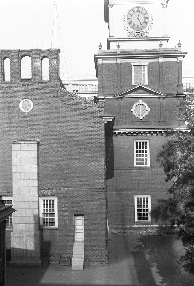 View of Independence Hall, from Congress Hall