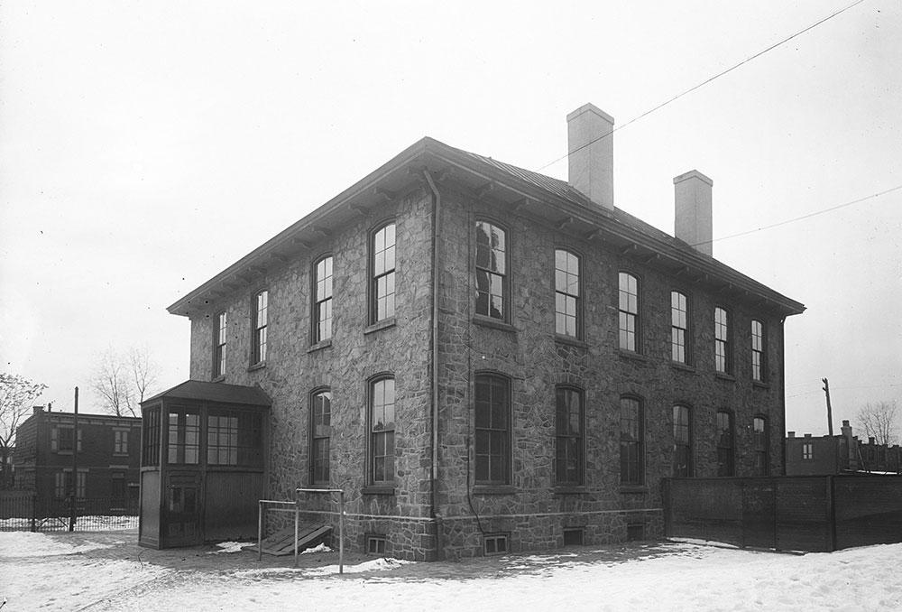 The George B. McClellan Public School #1, Rear Elevation