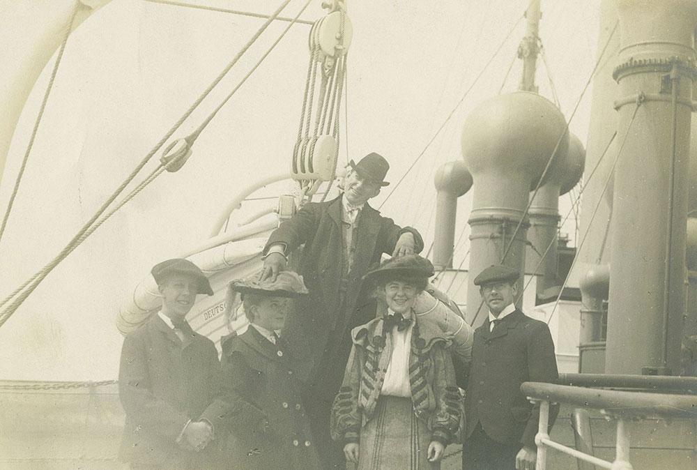 Travelers in Front of the D. S. Deutschland