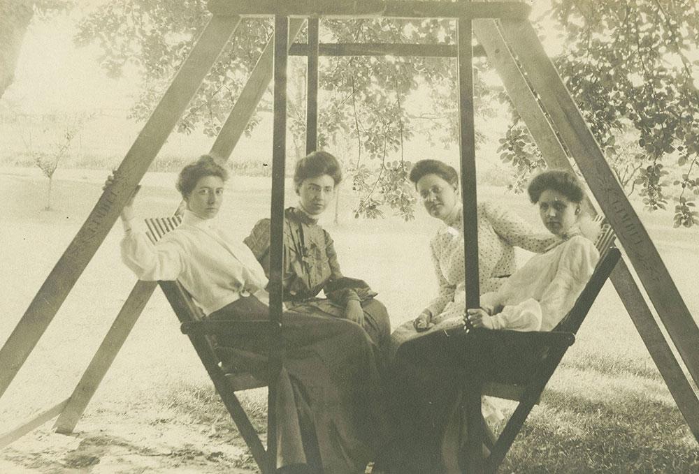 Women on Swing