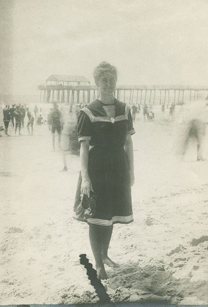 Woman on Beach - Historical Images of Philadelphia