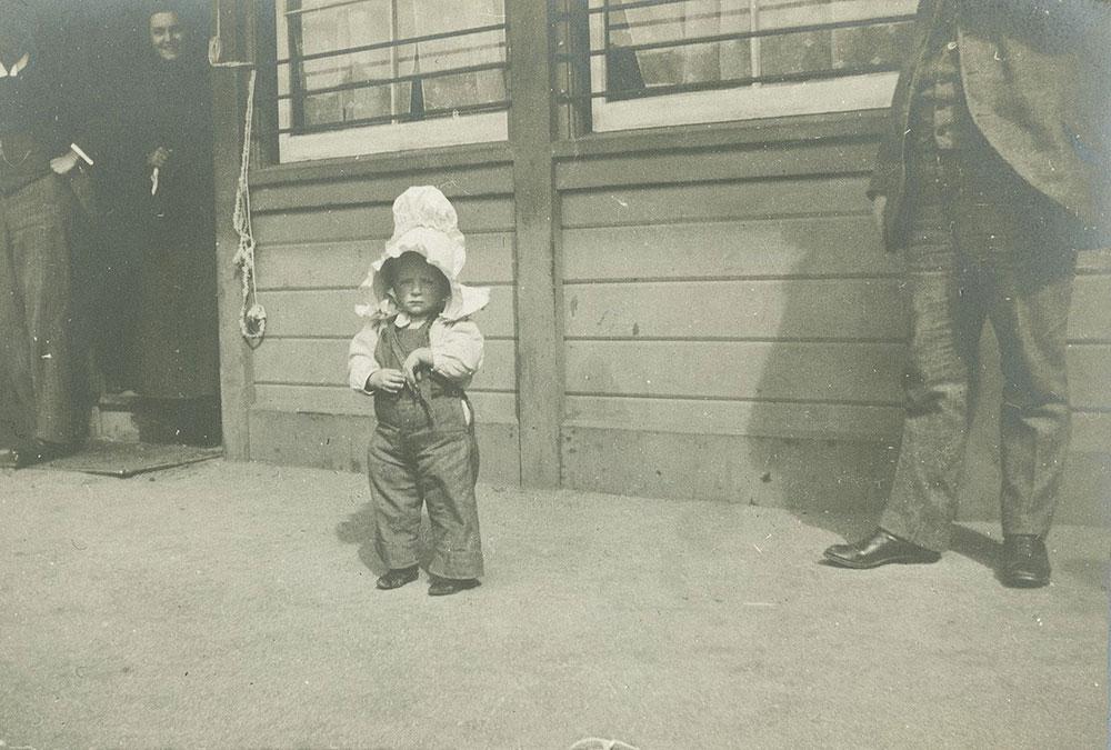 Child in Enormous Bonnet