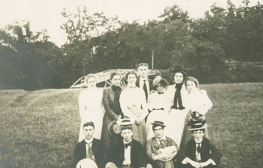 Group of Men and Women with Hats