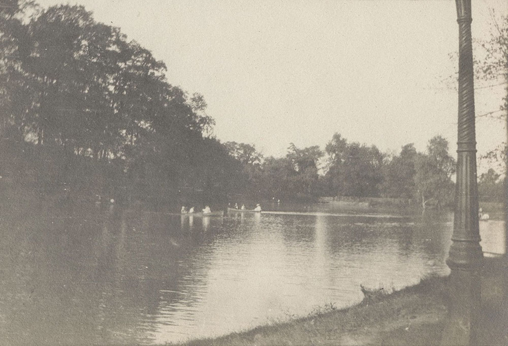 Lake and boaters