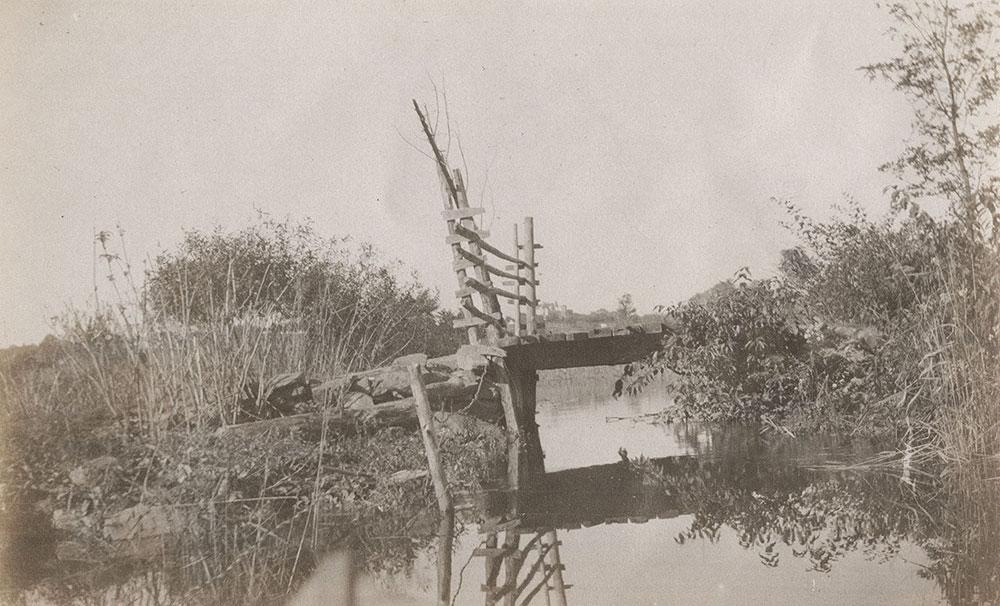 Creek and wooden bridge