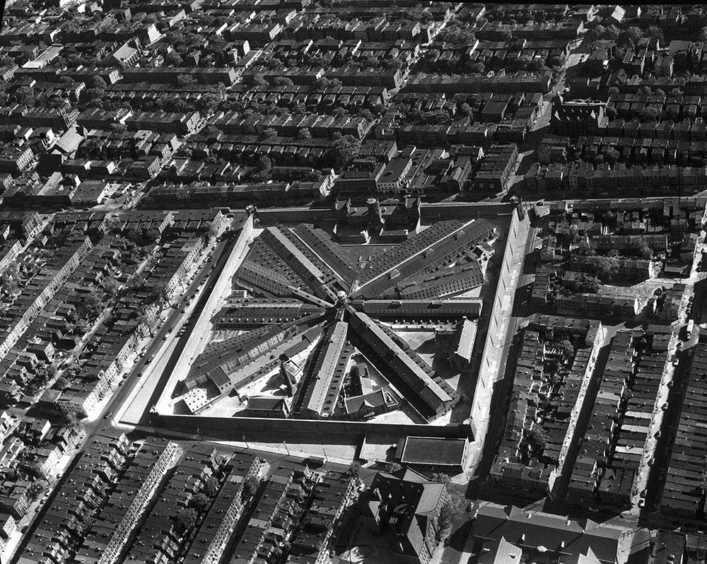 Aerial views Eastern State Penitentiary