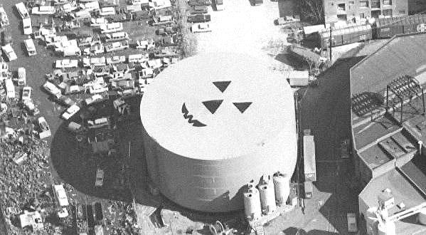 Pumpkin Head storage tank aerials