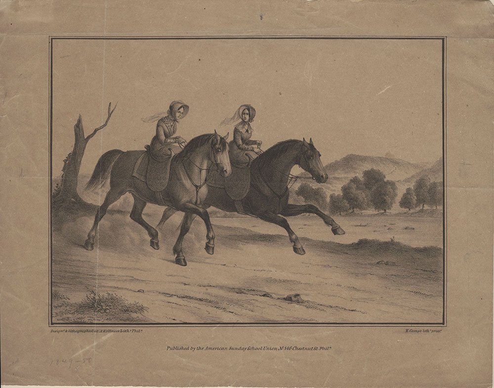 [Sunday in the Country] [graphic] / Designd & lithographed at A. Kollner's lithy. Phila; H. Camp's lithc press.