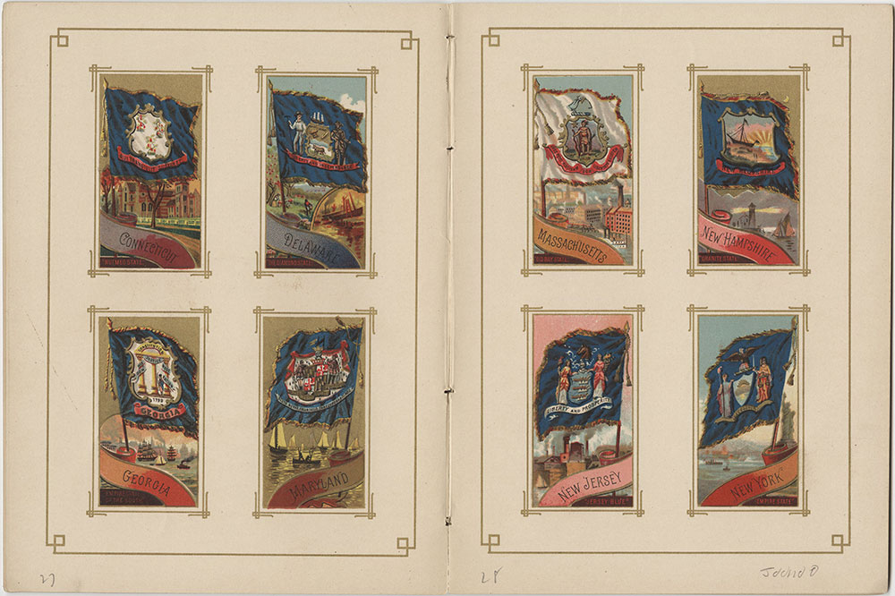 Flags of All Nations and the United States of America - Pages 27 & 28