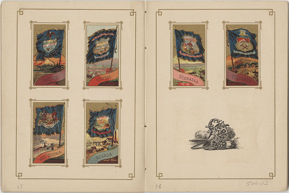 Flags of all Nations and the United States of America - Pages 35 & 36