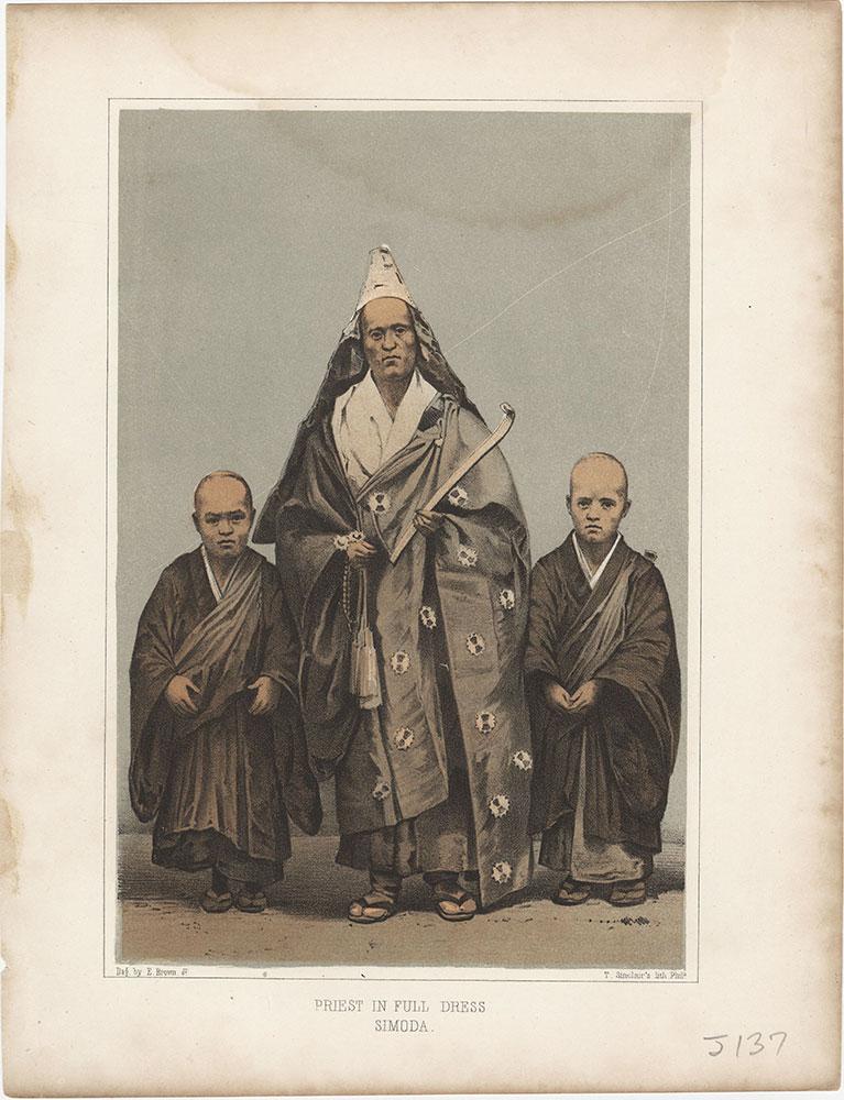 Priest in Full Dress, Simoda