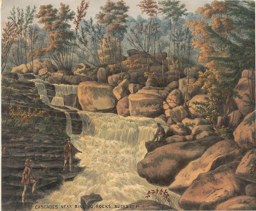 Cascades, near ringing rocks, Bucks Co. Pa.