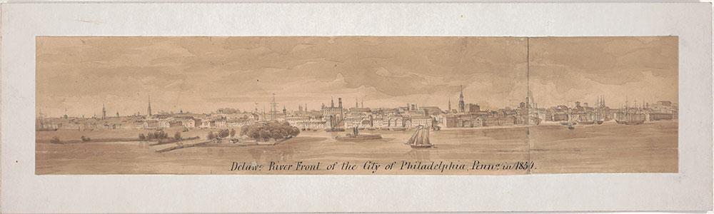 Delaware River Front of the City of Philadelphia, Penn. in 1854