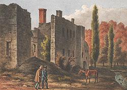 {Ruins of Mil 1880 or East Indian Creek West Philadelphia Haddington from Nature A. Kollner}