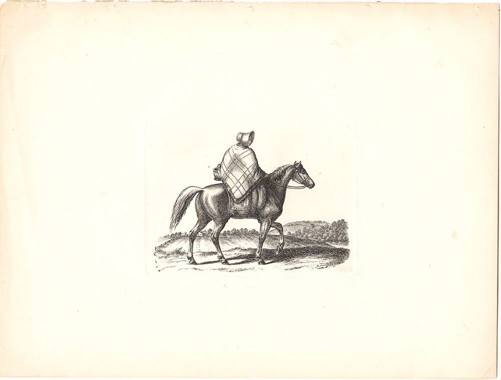 {Woman on horse}