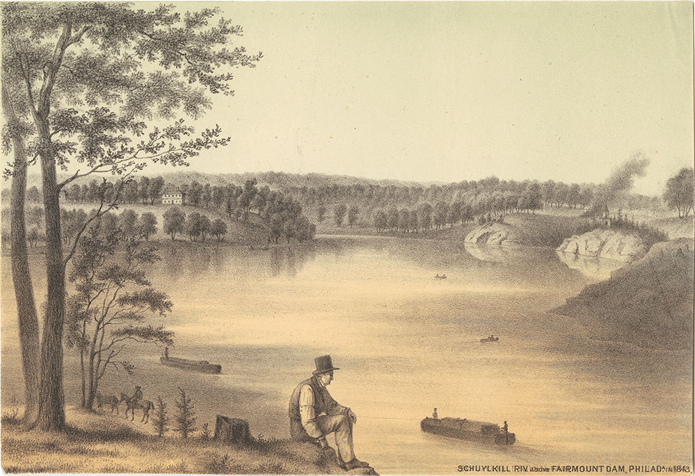 Schuylkill River above Fairmount Dam, Philadelphia, in 1843