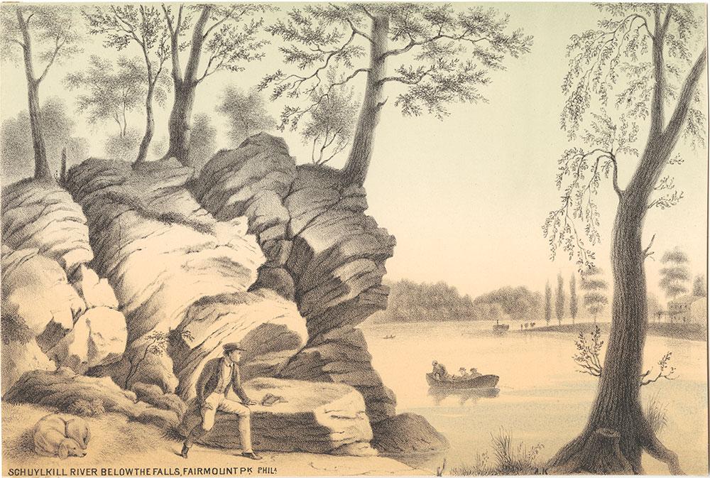 Schuylkill River below the falls, Farimount Park, Philadelphia