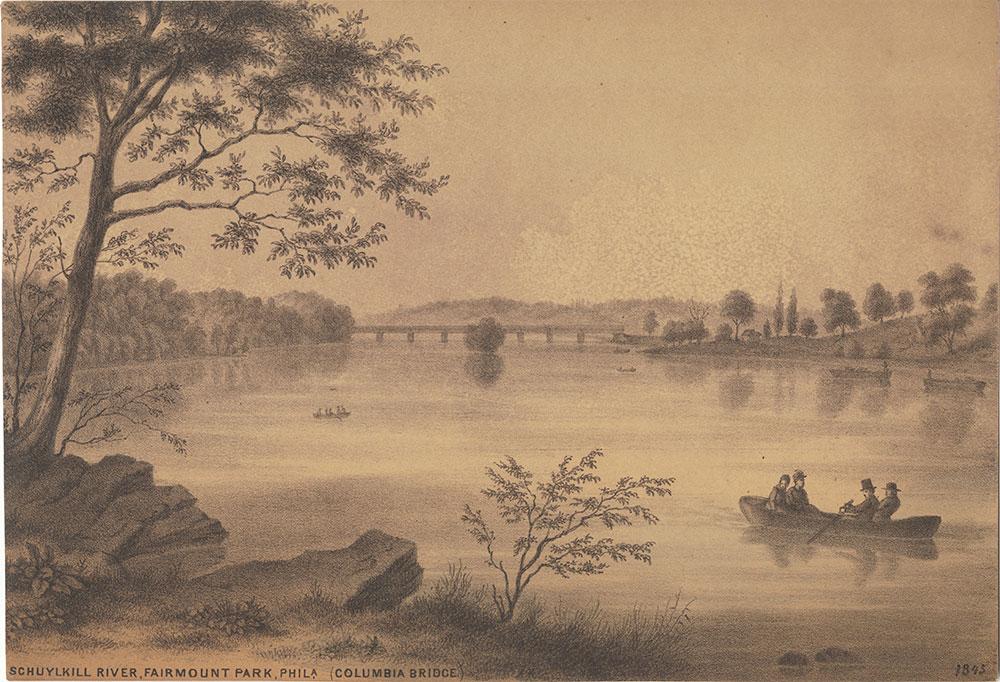 Schuylkill River, Fairmount Park, Phila. (Columbia Bridge)