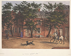 Corner of Sixth and Buttonwood Streets in 1862