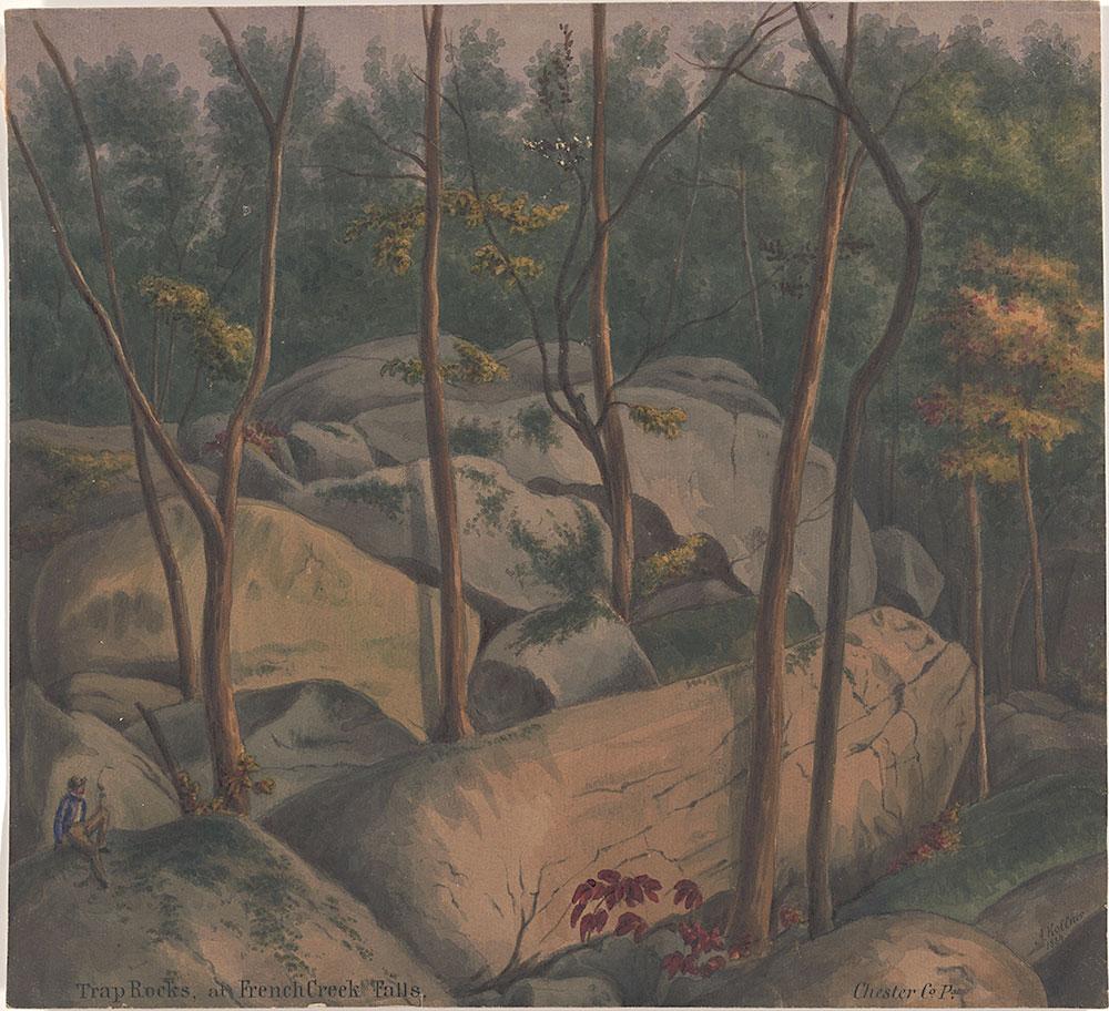 Trap Rocks, at French Creek Falls, Chester Co Pa