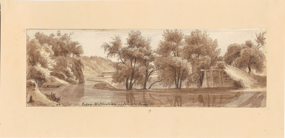 Below Mifflintown on the Juniata River Pa