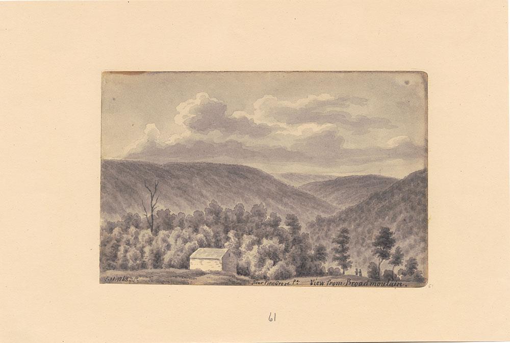 View from Broadmountain, near Pinegrove Pa.