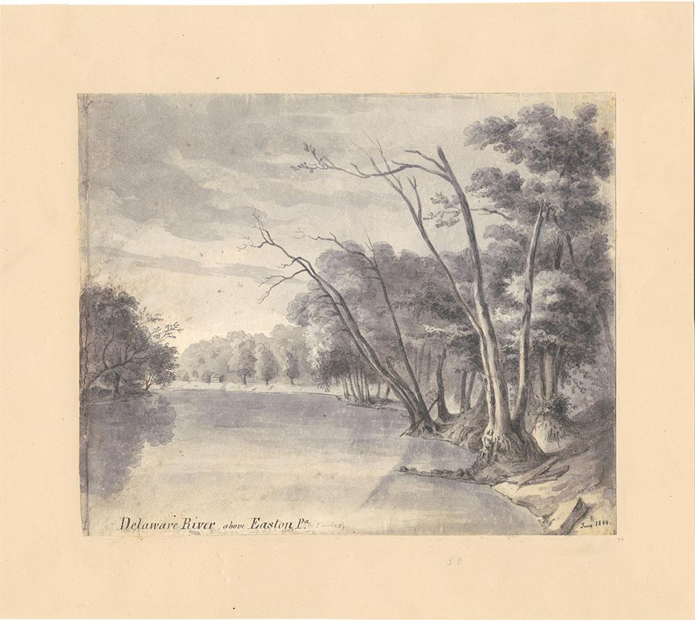 Delaware River above Easton Pa