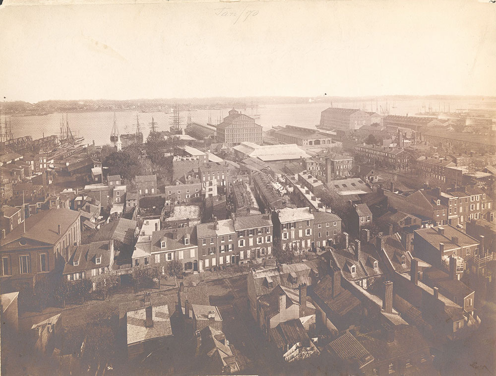 Panorama of Philadelphia, east-southeast view