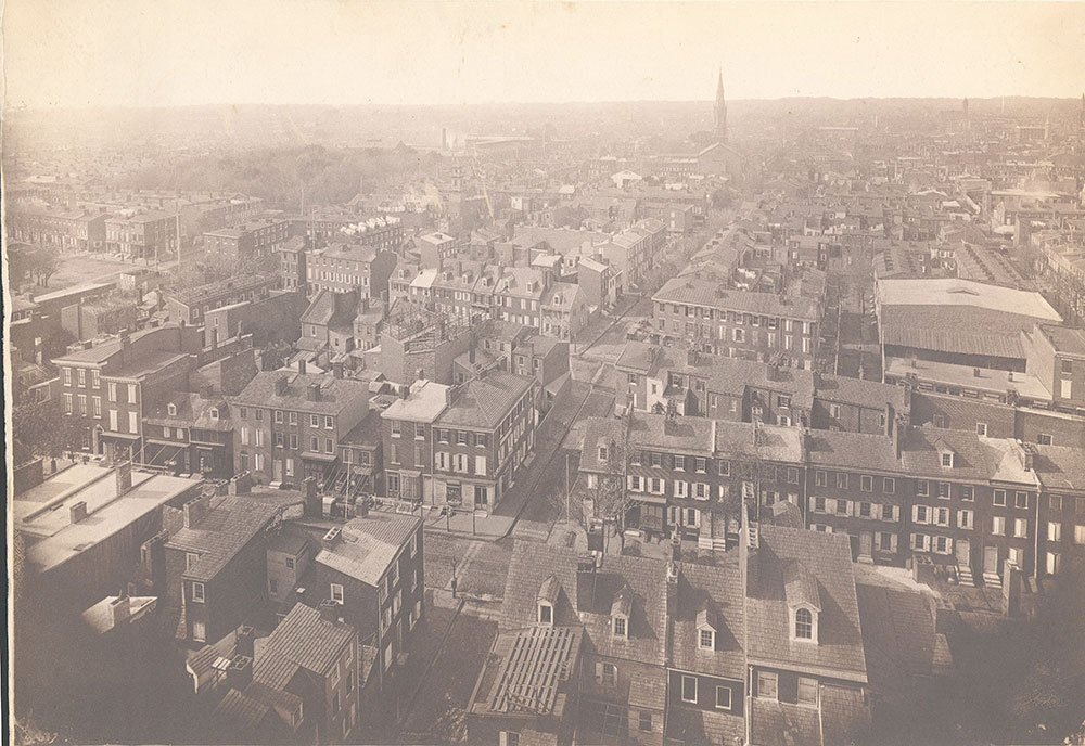 Panorama of Philadelphia, west view